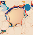 array of colorful circles with vector image