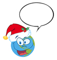 Earth with santa hat cartoon vector image vector image