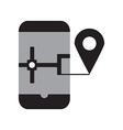 Smart phone navigation vector image vector image