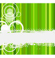 stylish green banner vector illustration vector image