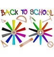 pencil school vector image vector image