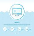 Computing Concept Design Template blue color vector image