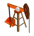 Oil pump isometric 3d icon vector image