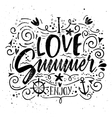 Print for T-shirt I love summer vector image vector image