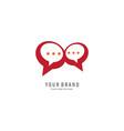 bubble chat logo vector image