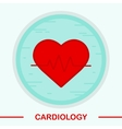 Cardiology color icon vector image