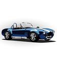 classic sport car cobra roadster blue vector image