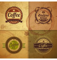 Collection of vintage Coffee Design labels vector image