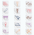 Construction Button Icons Set vector image