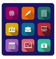 Set of flat business icons vector image