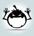 Cartoon Halloween silhouette vector image