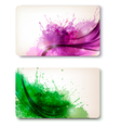 Two colorful abstract business cards vector image