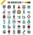 rescue concept icons vector image