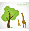 Trees and giraffes vector image