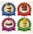 Sweets ribbon banners vector image