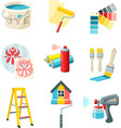 Painting Work Set vector image