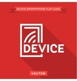 Smartphone flat circuit device logo icon vector image