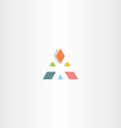 abstract triangle business colorful logo vector image