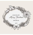 Vintage christmas greeting card Happy new year vector image