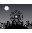 Ferris wheels at night time vector image