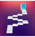 Abstract Creative concept icon of staircase vector image