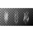 modern smoke set on transparent background vector image