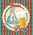Beer digital design vector image