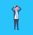 business man confused office worker character vector image