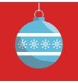 christmas ball isolated icon vector image