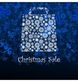 Christmas sale card with shopping bag EPS 8 vector image