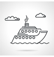 Cruise liner black icon vector image