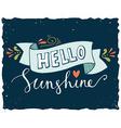 Hello sunshine vector image