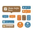 Make selfie here Icons and stickers set For cafes vector image
