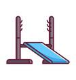power rack icon vector image