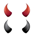 Red and black devil horns isolated vector image