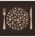 Restaurant background vector image