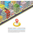 road in the city isometric vector image