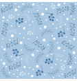seamless christmas pattern with branches vector image