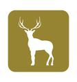 Silhouette of the deer Flat deer icon vector image