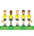 soccer referees on white background vector image