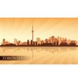 Toronto city skyline silhouette background vector image