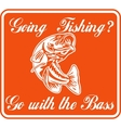 largemouth bass going fishing vector image