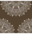 vintage floral ornamental background vector image