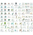 Mega set of new universal company logo ideas vector image