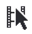 video web icon vector image vector image