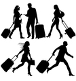 airport travelers vector image