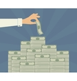 Banking deposits vector image