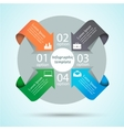 Cycle diagram infographic template vector image