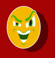 paper sticker on theme evil emotions face vector image