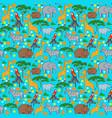 seamles animal pattern vector image